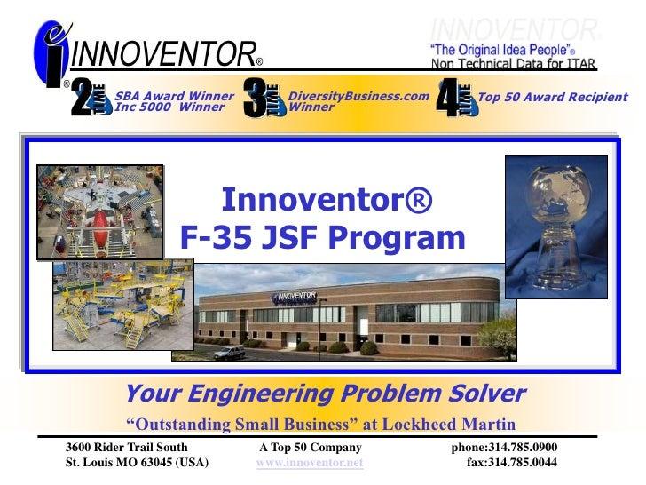 F-35 JSF Innoventor Program