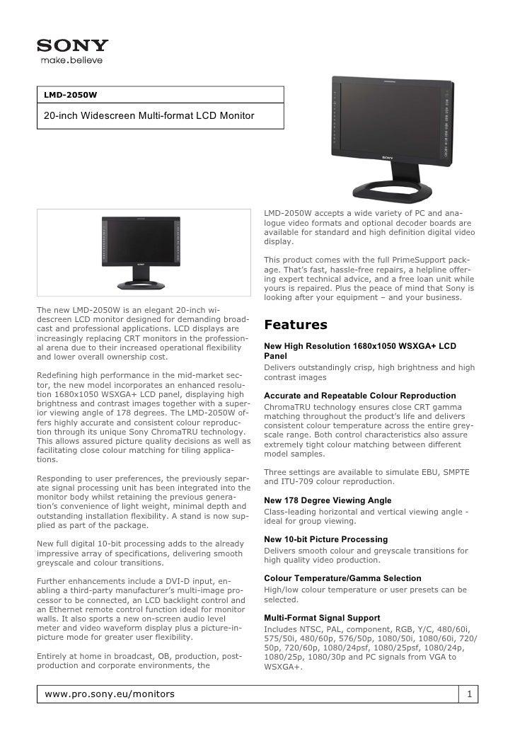 Sony LMD-2050W
