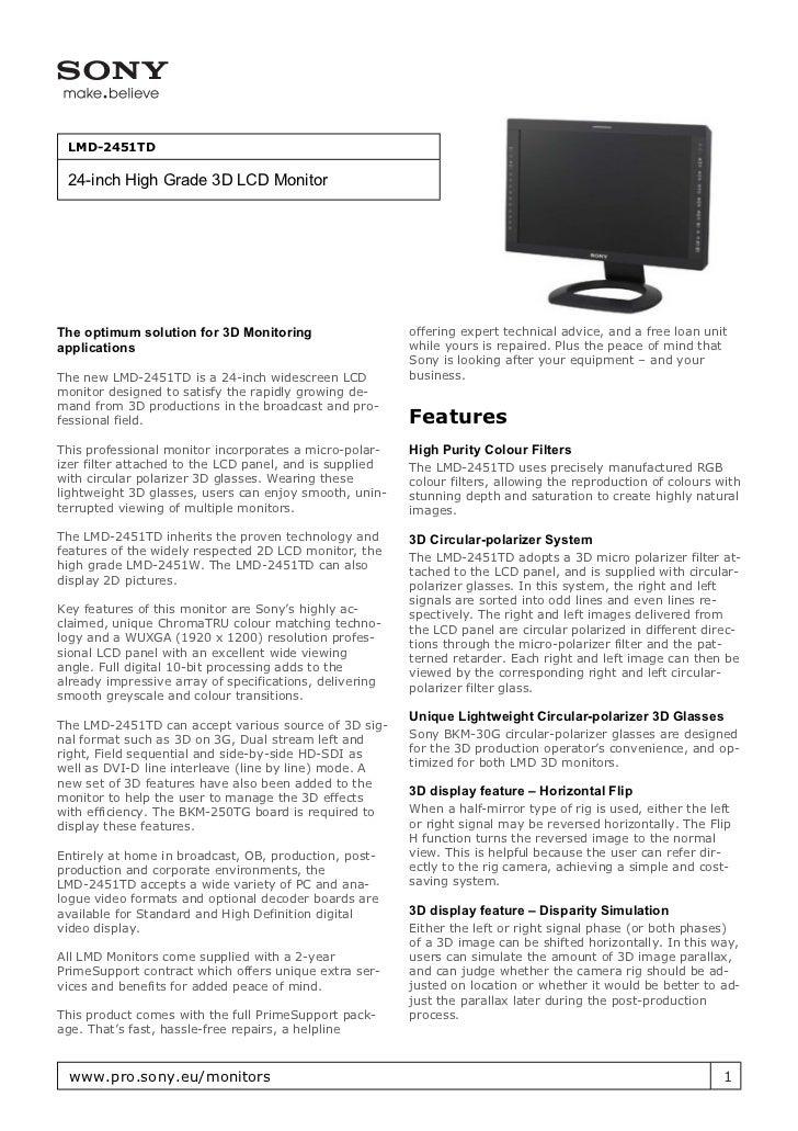 Sony LMD 2451TD