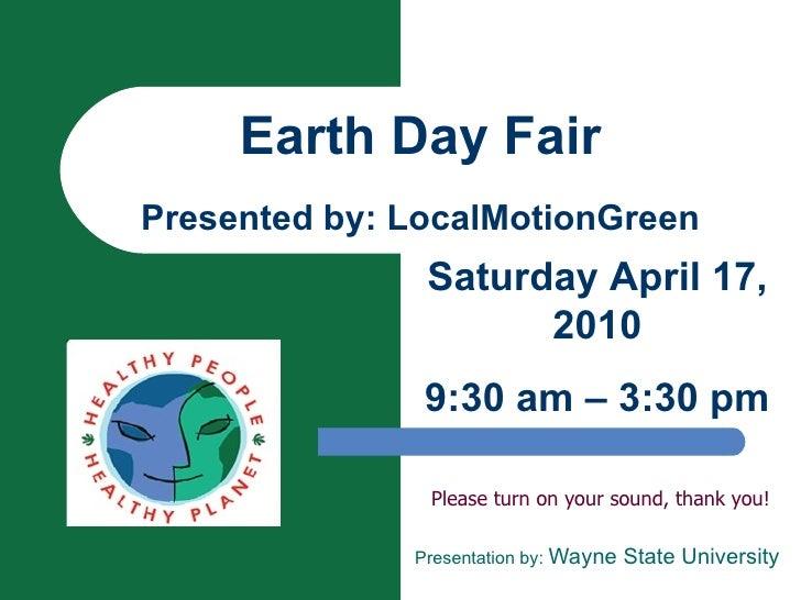 LMG Earth Day Presentation