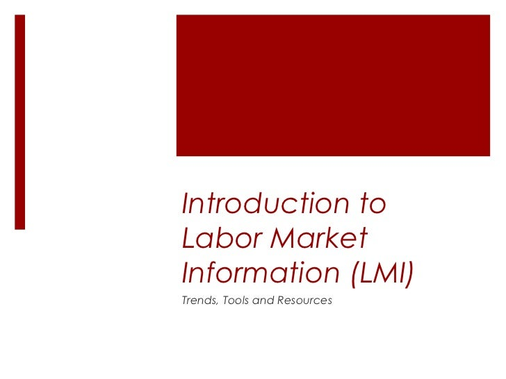 Understanding and Using Labor Market Information