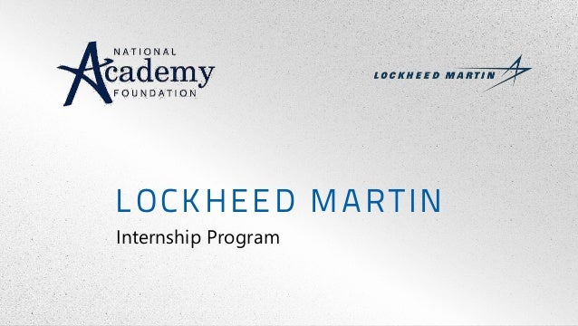 LOCKHEED MARTIN Internship Program