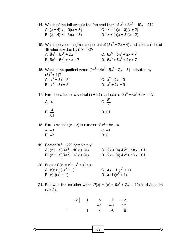 MATH GRADE 10 LEARNERu0026#39;S MODULE