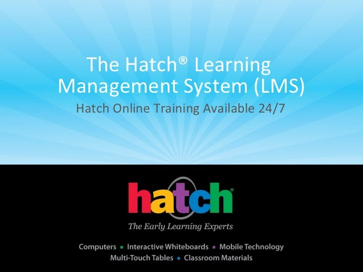 Hatch Learning Management System Demo (Online Learning)