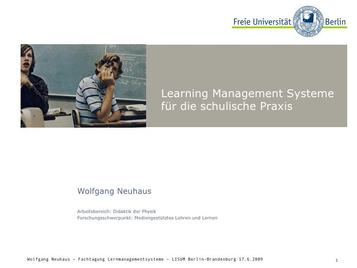 Learning Management Systeme für die schulische Praxis