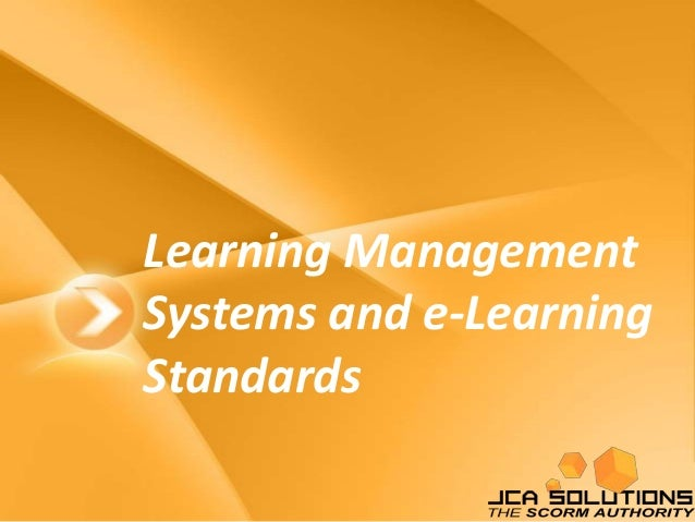 LMS and e-Learning Standards