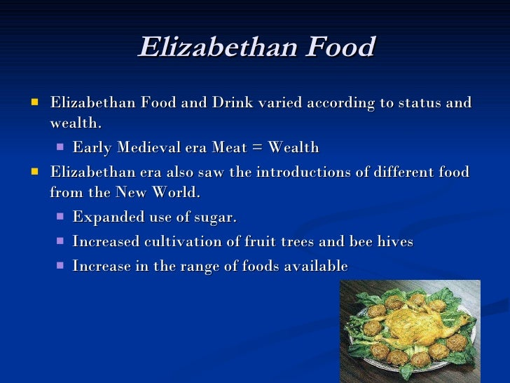 Elizabethan cultures amp customs