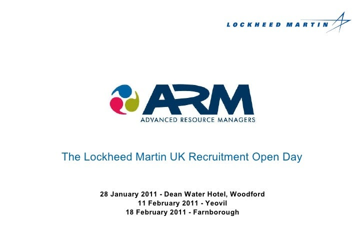 ARM (on behalf of our client Lockheed Martin UK) Engineering Recruitment