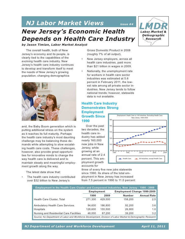 NJ Labor Market Views     issue #4New Jersey's Economic Health                                                            ...