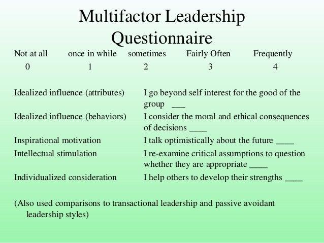 transactional leadership theory