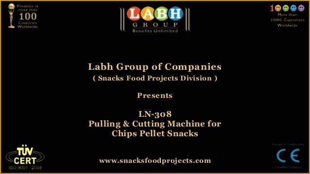 Labh Group of Companies( Snacks Food Projects Division )PresentsLN-308Pulling & Cutting Machine forChips Pellet Snackswww....