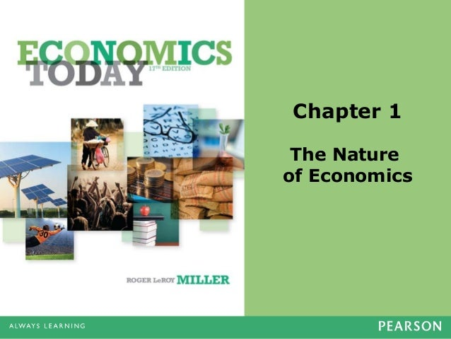 Chapter 1 The Nature of Economics