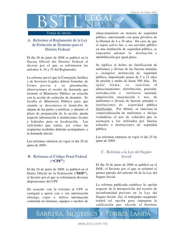 Número 12, Junio 2009              Temas de interés                   almacenamiento en materia de seguridad              ...