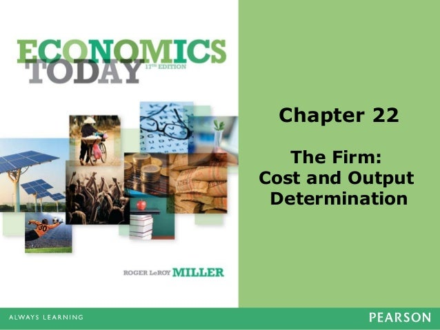 Chapter 22 The Firm: Cost and Output Determination