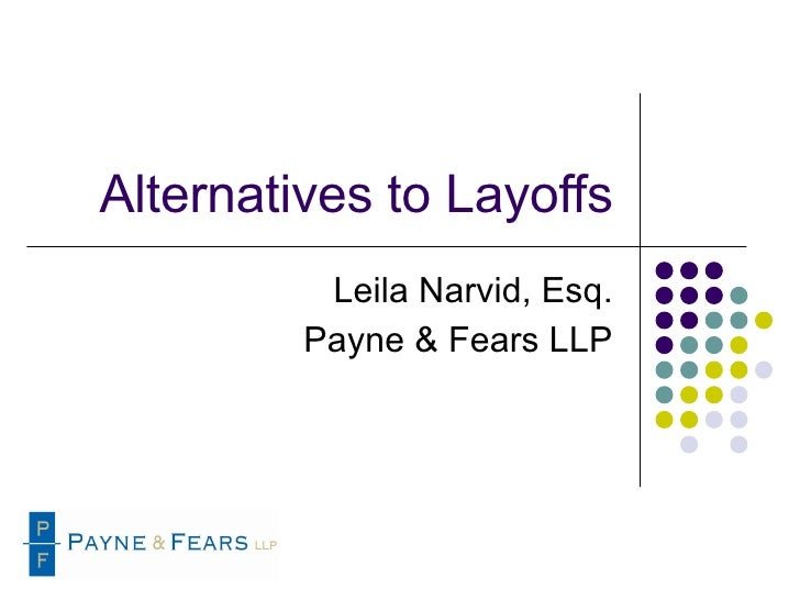 Alternatives To Lay Offs