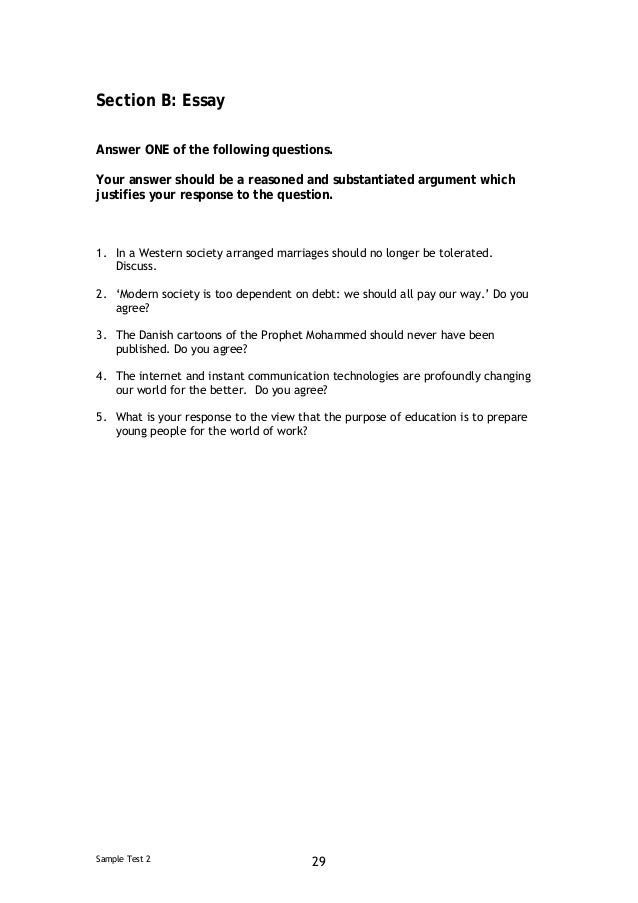 Eap test essay examples