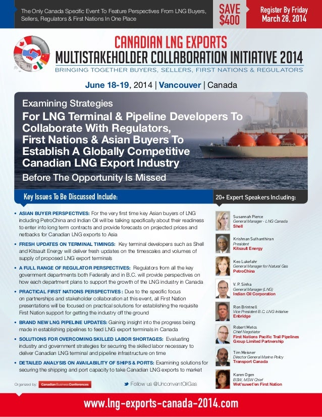Canadian LNG Exports Multistakeholder Collaboration Initiative 2014
