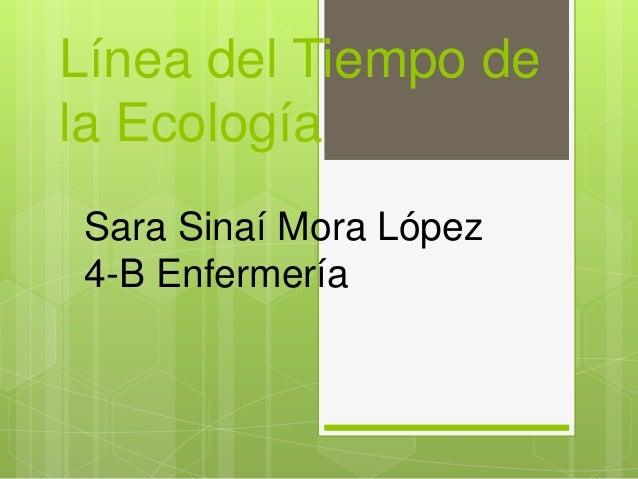 Línea del Tiempo de la Ecología Sara Sinaí Mora López 4-B Enfermería