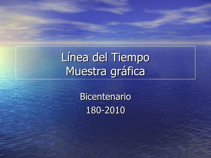 Línea del Tiempo Muestra gráfica Bicentenario 180-2010