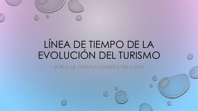 LÍNEA DE TIEMPO DE LA EVOLUCIÓN DEL TURISMO POR: CAR. IVANNA CABRERA DELGADO
