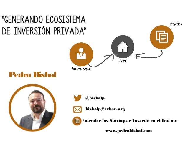 Pedro Bisbal                @bisbalp                bisbalp@cvban.org               Entender las Startups e Invertir en el...