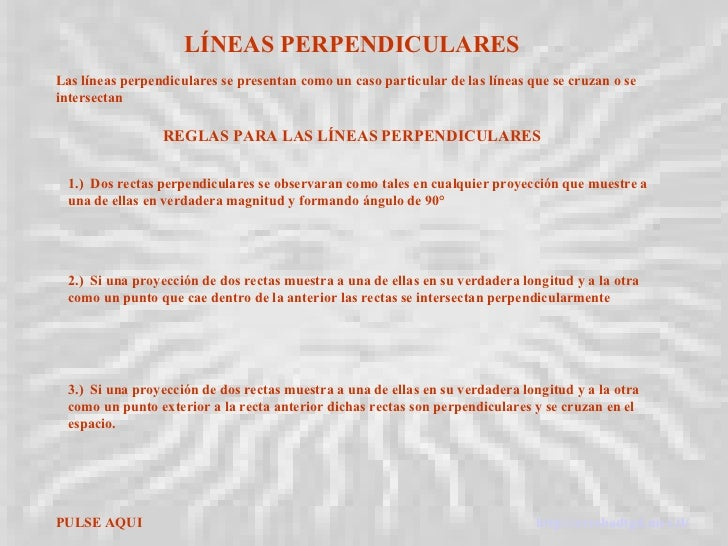 Lìneas perpendiculares