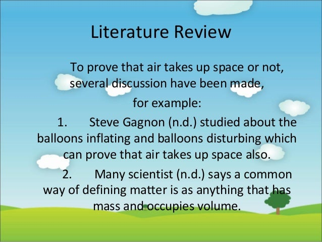 How To Write A Short Literature Review