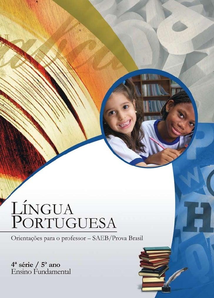 Língua portuguesa orientações para o professor saeb_prova brasil