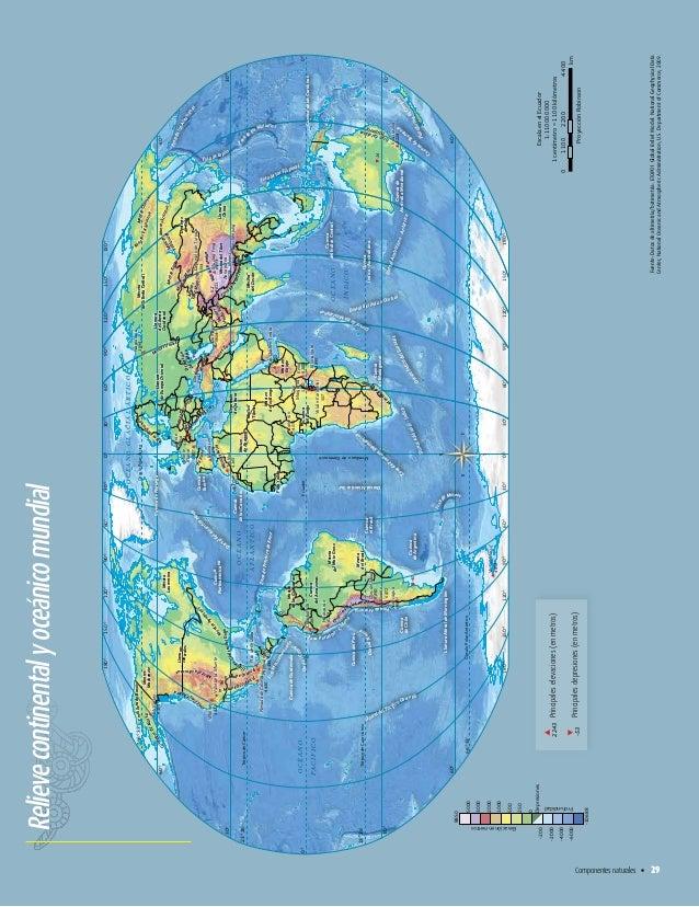 Relieve Continental y Oceanico de Mexico Relieve Continental y Oceánico