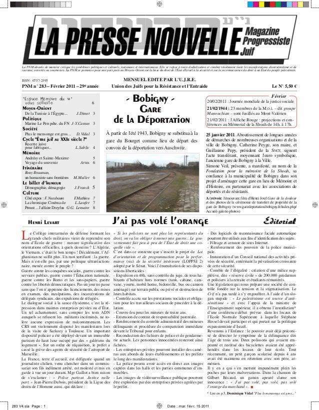 La Presse Nouvelle Magazine 283 février 2011