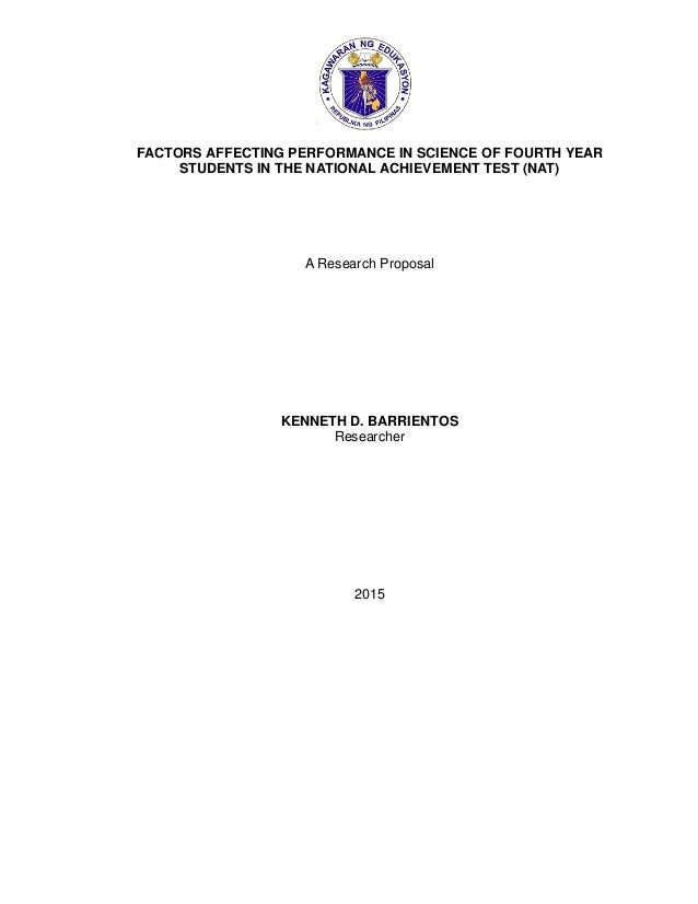 Thesis on factors affecting academic performance of students