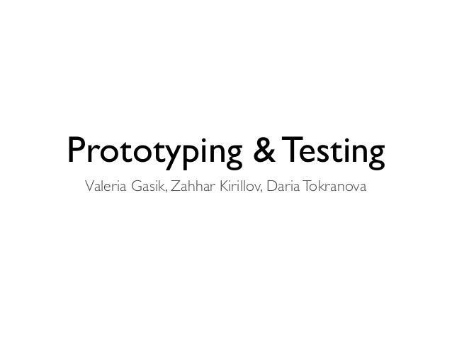 Lo fi prototyping