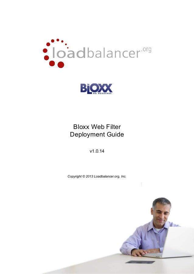 Load balancer-fuer-bloxx-content-filter-der-deployment-guide