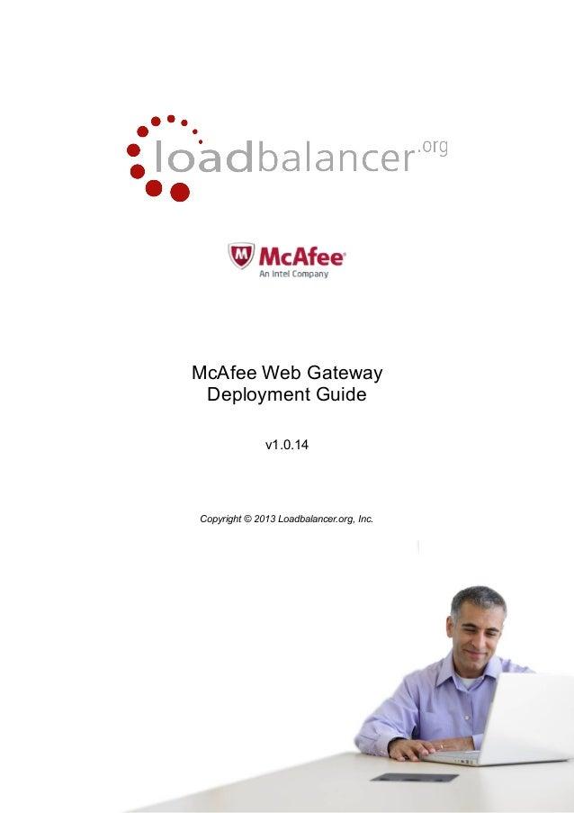 Load Balancing des McAfee Web Gateway - das Handbuch