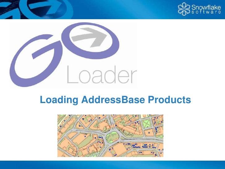 Loading AddressBase Products