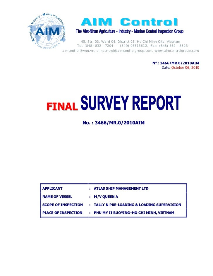 Loading inspection report
