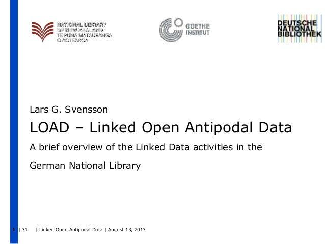 LOAD–Linked Open Antipodal Data