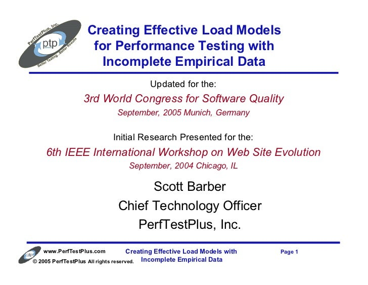 Creating Effective Load Models                    for Performance Testing with                      Incomplete Empirical D...