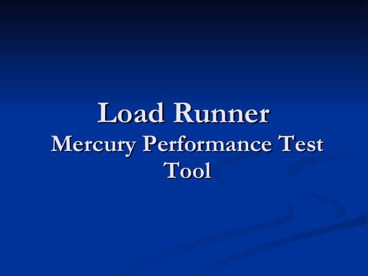 Loadrunner presentation