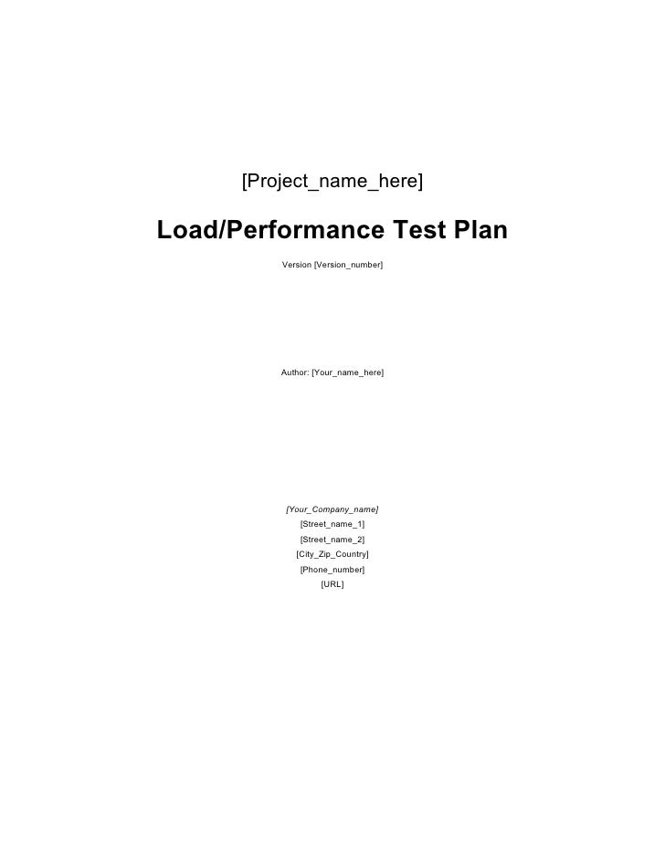 Loadtest template
