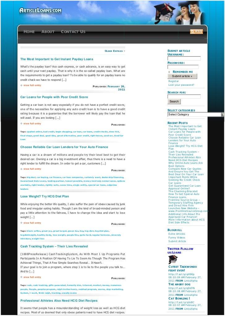 Loans - www.articleloans.com