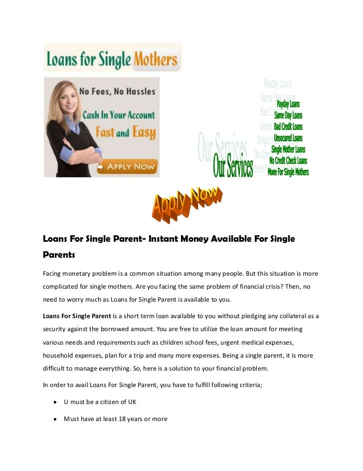 single parent payment loans There are different kinds of student loans (though the payments can be the federal parent plus loans this program offers loans for parents to pay for.