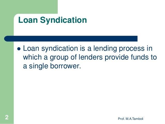 Loan Loan Syndication