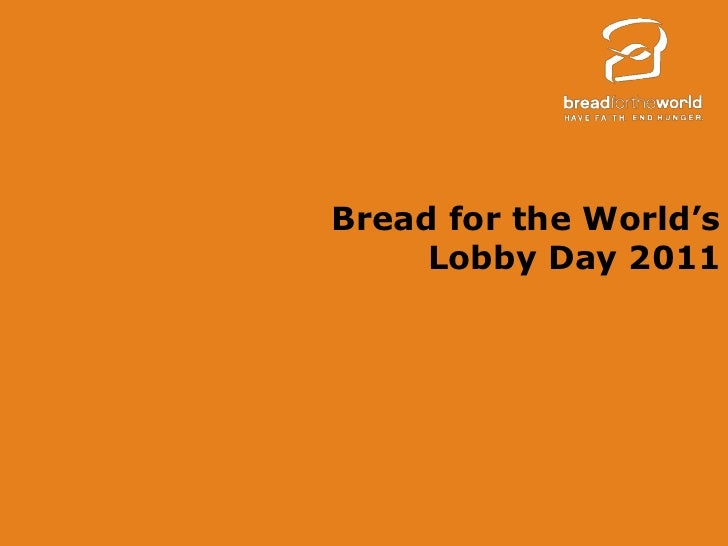 Bread for the World's 2011 Lobby Day