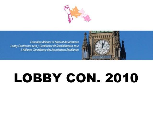CASA 2010 Lobby Conference Summary