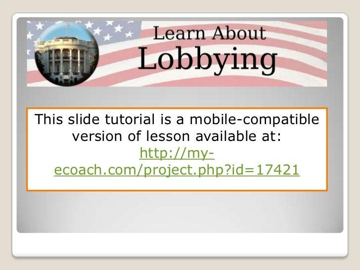 Lobbying tutorial