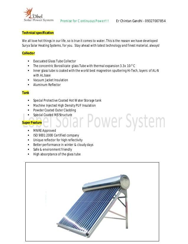 Lobel ETC Solar Water Heater
