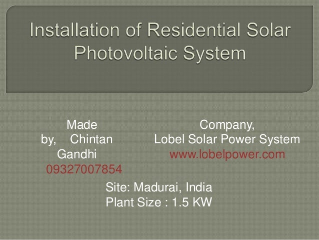 Lobel solar project ppt