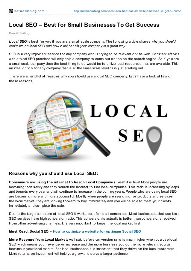 Local seo best for small businesses to get success