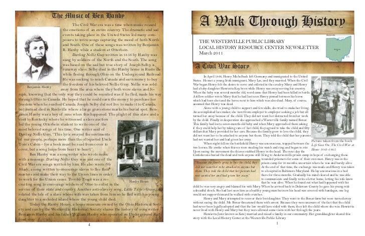 March 2011: A Civil War Story